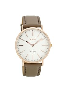 OZOO Horloge Taupe/Wit/Rose