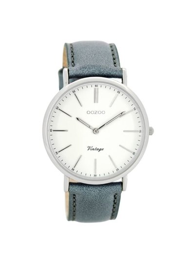 OZOO Horloge Aquagrijs/wit