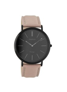 OZOO Horloge Zacht Taupe/black