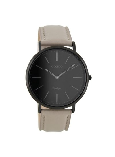 OZOO Horloge Taupe/zwart