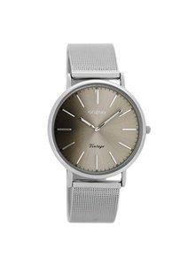 OZOO Horloge Zilver/Warm grijs