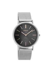 OZOO Horloge Zilver/rose