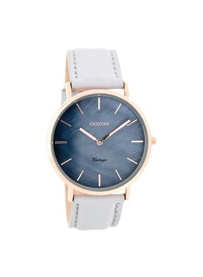 OZOO Horloge  Zacht grijs/blauw