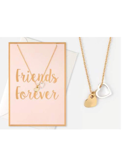 """Giftcard Double Heart """"Friends Forever"""""""
