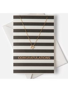 Monochrome Stripe 'Concratulation' Giftcard