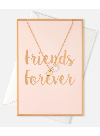 "Giftcard Double Heart ""Friends Forever"""