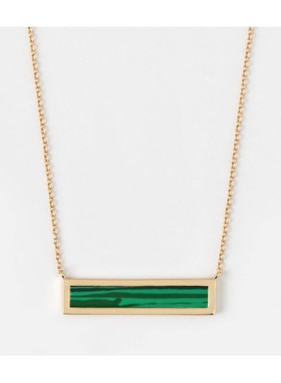 Malachite Bar Necklace