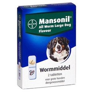 Mansonil Mansonil grote hond all worm tabletten