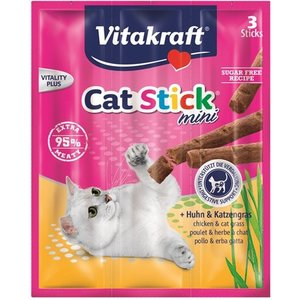 Vitakraft Vitakraft cat-stick mini kip / kattengras