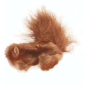 Kong Kong kat pluche eekhoorn bruin catnip