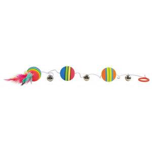 Trixie Trixie regenboog balletjes aan elastisch koord