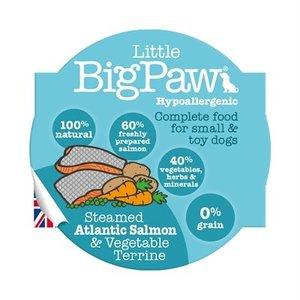 Little big paw Little big paw gestoomde atlantische zalm / groenten dinner