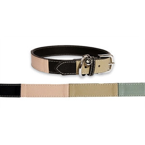 Rosewood Rosewood luxury leather halsband threetone