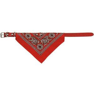 Adori Adori halsband met zakdoek rood