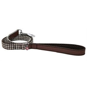 Rosewood Wag 'n' walk hondenriem houndstooth bruin / wit