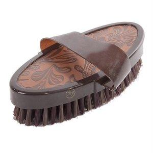 Hb ruitersport Hb borstel vintage leather look soft bruin
