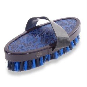 Hb ruitersport Hb borstel vintage leather look soft blauw