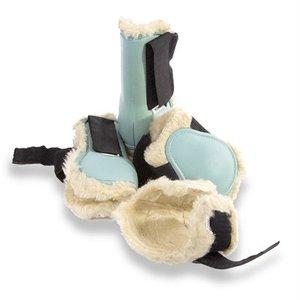 Hb ruitersport Hb beenbeschermingset pony met bont lichtblauw