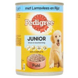 Pedigree 12x pedigree blik junior pate lam / rijst