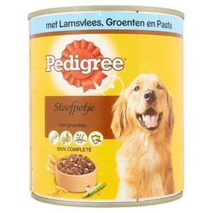 Pedigree 12x pedigree blik adult stoofpotje lam / groenten / pasta