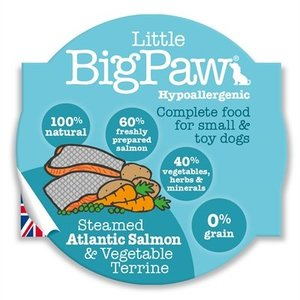 Little big paw 8x little big paw gestoomde atlantische zalm / groenten