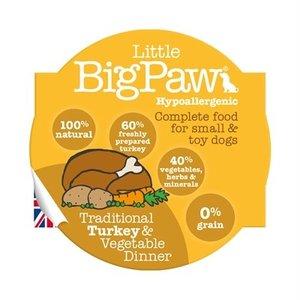 Little big paw Little big paw traditionele kalkoen / groenten dinner