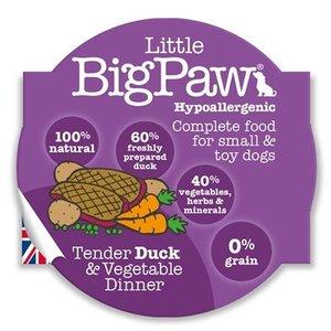 Little big paw 8x little big paw malse eend / groenten dinner