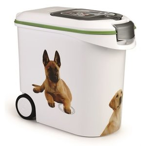 Curver Curver voedselcontainer opdruk hond wit/groen