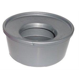 Merkloos Non spill drinkbak zilver