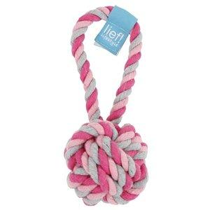 Lief! Lief! hondenspeelgoed flossbal girls roze / wit