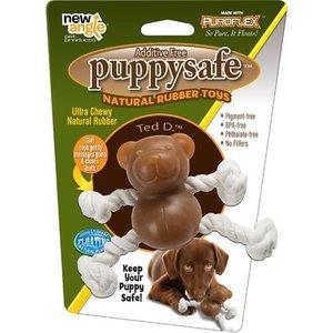 New angle New angle puppysafe ted d. natuurlijk rubber met flostouw