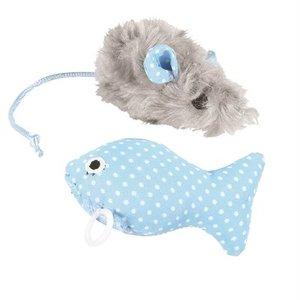Little rascals Little rascals kitten speelset muis en vis blauw