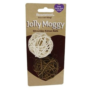 Jolly moggy Jolly moggy silvervine ballen rattan