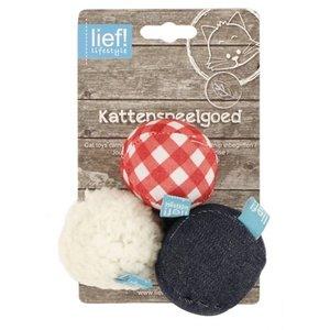 Lief! Lief! softbal uni met catnip blauw/rood/wit