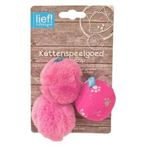 Lief! Lief! softbal girls met catnip roze