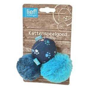 Lief! Lief! softbal boys met catnip  blauw
