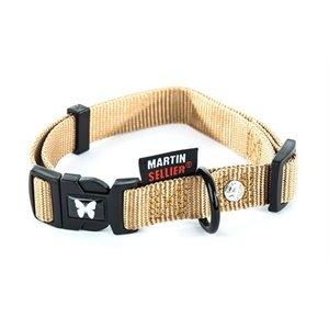 Martin sellier Martin sellier halsband nylon beige verstelbaar