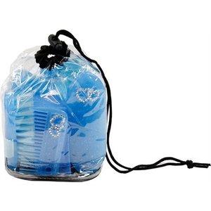Hb ruitersport Hb poetsset cristal glitter neon 6-delig blauw