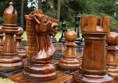 Teak houten Schaken
