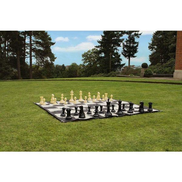 Ubergames Complete schaakset, incl. mat 90x90 cm