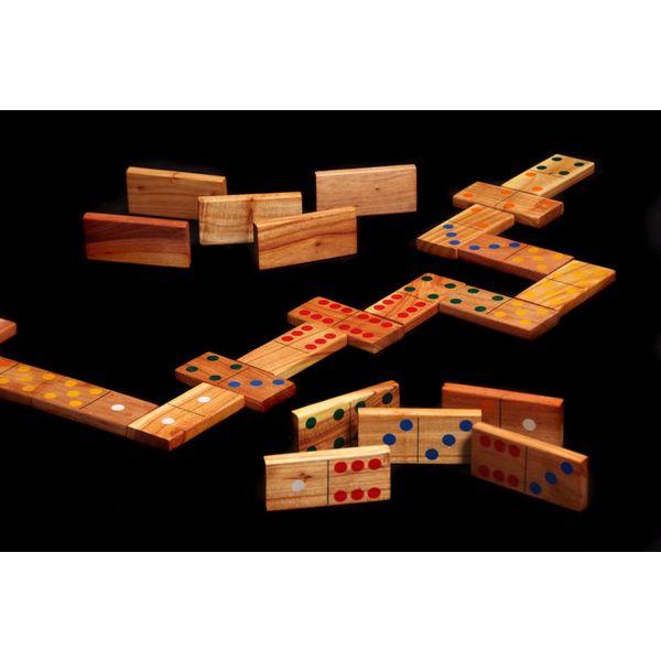 Ubergames Giga Domino, ECO hout, in nette tas
