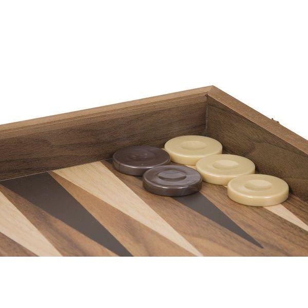 Ubergames Backgammon set, exclusief, walnoot