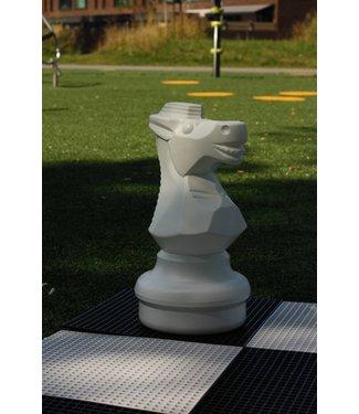 Ubergames Schaakstuk, Paard 45 cm, wit of zwart..