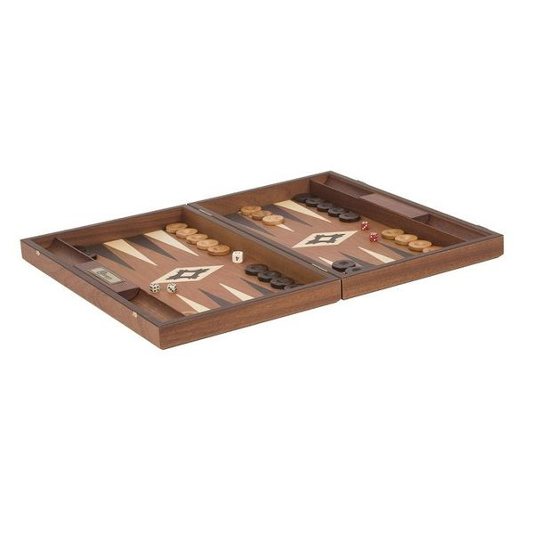 Ubergames Exclusieve Backgammon set, Mahoniehout