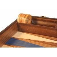 Ubergames Exclusieve backgammon set, Handgemaakt, blauw