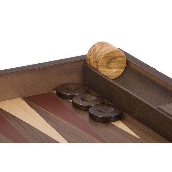 Ubergames Exclusieve backgammon set, Handgemaakt, rode inleg