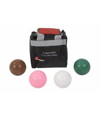 Ubergames Croquet ballen, 4 stuks, elk 355 gram, Kunststof