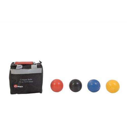 Ubergames Croquet Ballen - 473 gram kunststof - 1e Kleuren