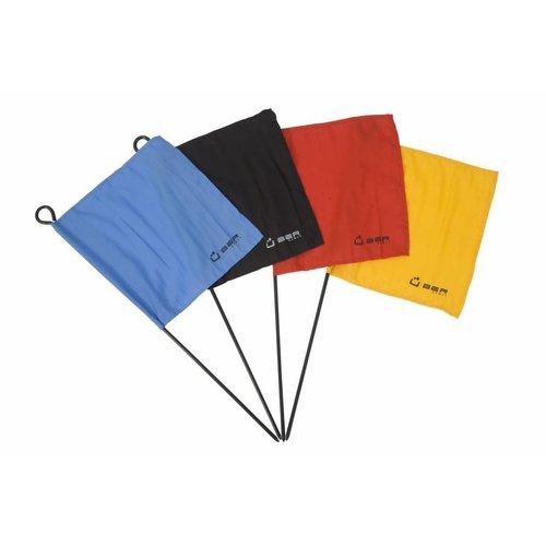 Ubergames Croquet vlaggen & palen, 4 stuks