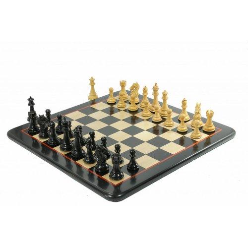 Meesterspel Staunton Koning's Bruid Ebbenhout Schaakset, met prachtig schaakbord